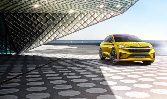 This is the 2019 Skoda iV electric concept car