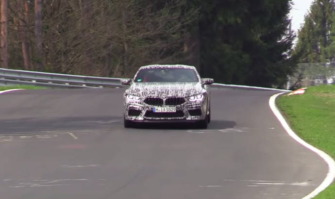 BMW M8 was spied during some testing around the Nurburgring