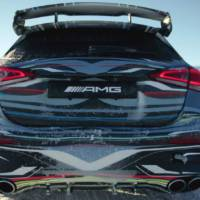 First teaser pictures with the upcoming Mercedes-AMG A45