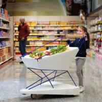 Ford has made a self-braking shopping cart