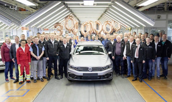 Volkswagen Passat reaches 30 million mark. It is the best-selling midsize car ever
