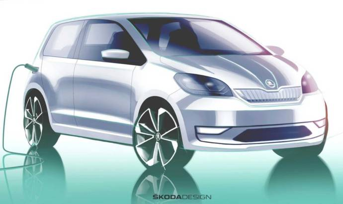 First design sketch of the 2020 Skoda Citigo-e iV