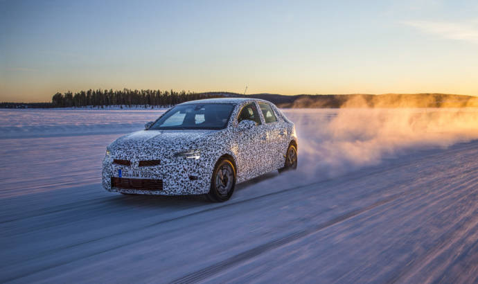 First official pictures with the next generation Opel Corsa