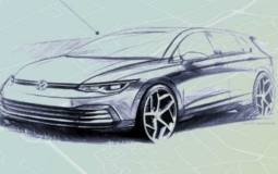 First official sketch with the Volkswagen Golf 8 interior
