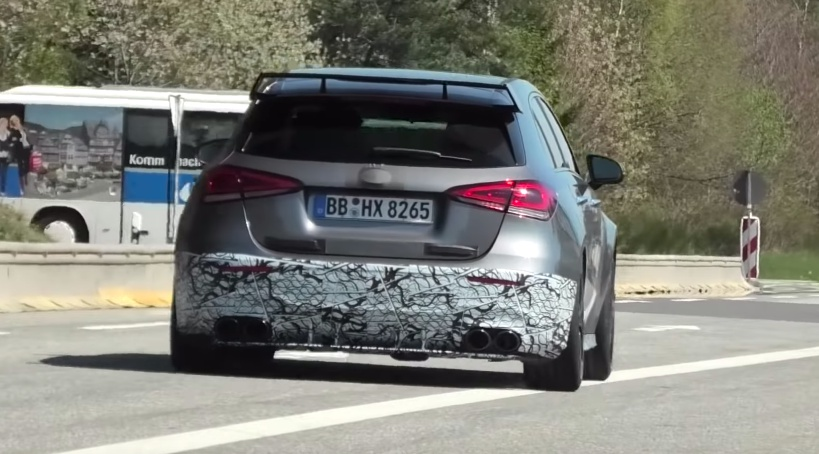 VIDEO: Mercedes-AMG A45 spied around the Nurburgring
