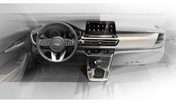 Kia published a new sketch with its upcoming small SUV