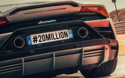 Lamborghini reached 20 million users on Instagram