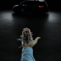 This is the first teaser picture with the production version of the new Mercedes-Benz GLB