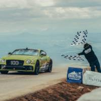 Bentley Continental GT sets a record on Pikes Peak