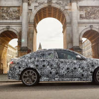First picture with the upcoming BMW 2 Series Gran Coupe. Covered in camo, of course