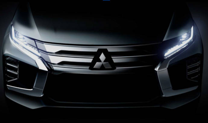 First teaser of the 2020 Mitsubishi Pajero Sport
