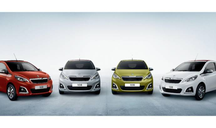 Peugeot 108 and 108 TOP offered with a pair of sunglasses