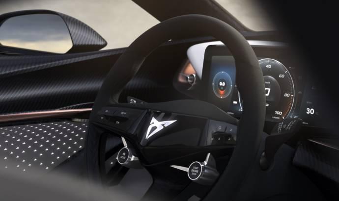 CUPRA teases interior of all-electric concept car