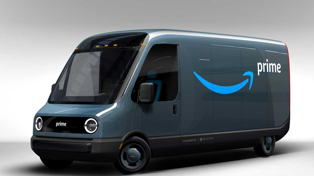 Amazon orders 100k electric delivery trucks signed by Rivian