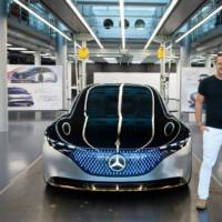 This is the 2019 Mercedes-Benz Vision EQS, the concept that previews an upcoming electric S-Class