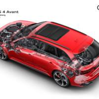 Audi RS4 Avant facelift has the same output but a more stylis exterior