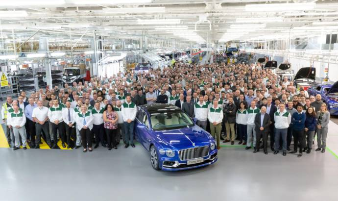 Bentley Continental Flying Spur enters production