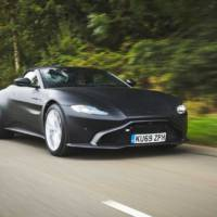 First teaser pictures of the upcoming Aston Martin Vantage Roadster
