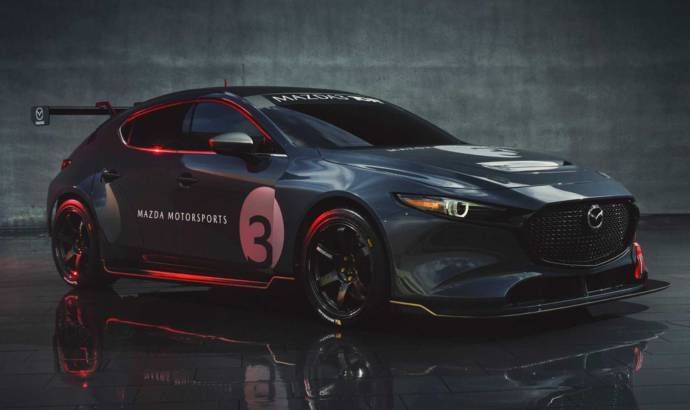 Mazda 3 TCR has 350 horsepower and a massive wing