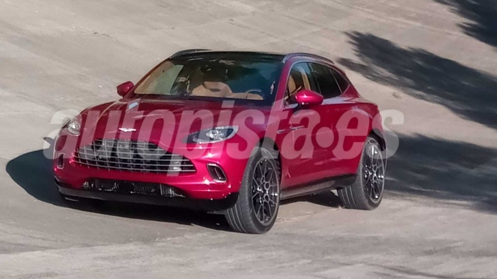 Spy pictures with the upcoming Aston Martin DBX