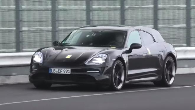 Spy-video. Porsche Taycan Cross Turismo caught around the Nurburgring
