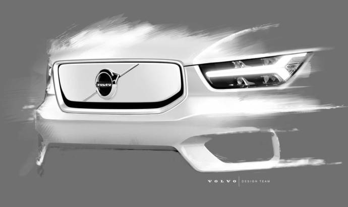 Volvo XC40 Electric - first teaser pictures