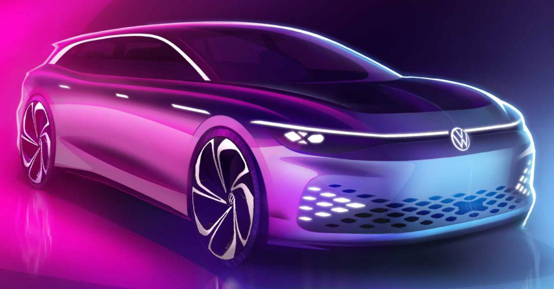 First teasers with the Volkswagen ID Space Vizzion Concept