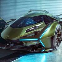 This is the virtual concept car Lamborghini Lambo V12 Vision Gran Turismo