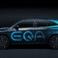 First teaser pictures of the upcoming Mercedes-Benz EQA