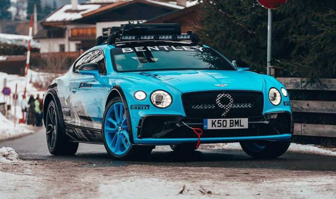 Bentley teases a rally Continental GT