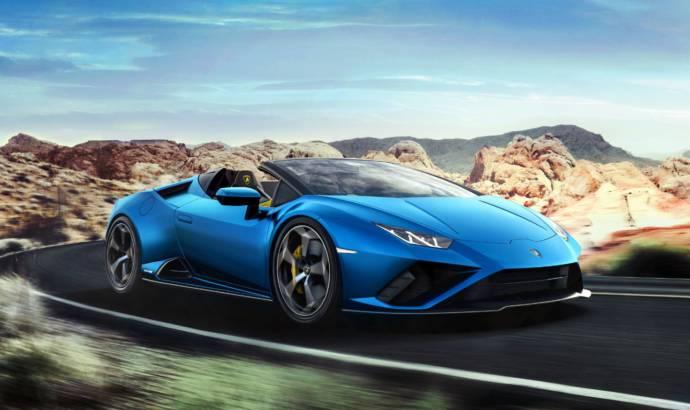 This is the 2021 Lamborghini Huracan Evo Spyder RWD